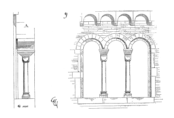 esquisse architecture médiévale - classe médiévale avec Élément Terre en Auvergne