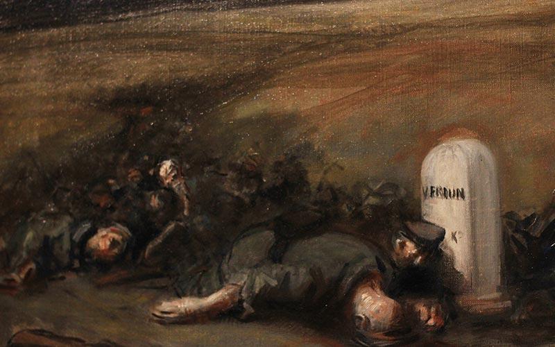 Verdun, l'encyclopédie de la Première Guerre Mondiale | Élément terre - © JEREMY DUMOND - peinture de guerre